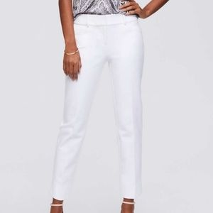 Ann Taylor Loft | White Julie Cropped Pants | Sz 4
